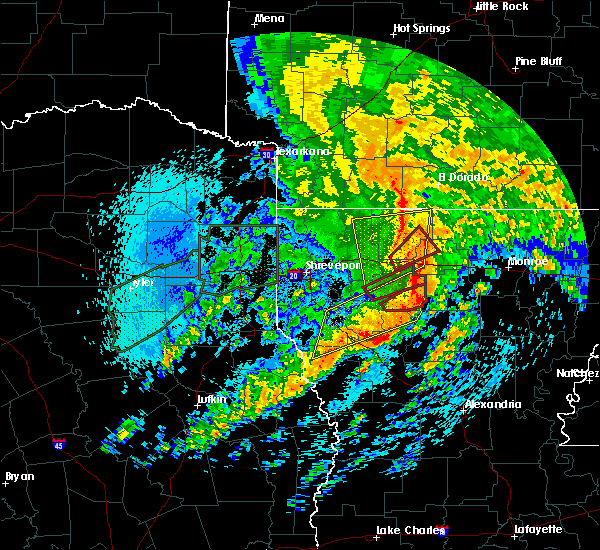 Radar Image for Severe Thunderstorms near Claiborne, LA at 4/12/2020 10:50 AM CDT