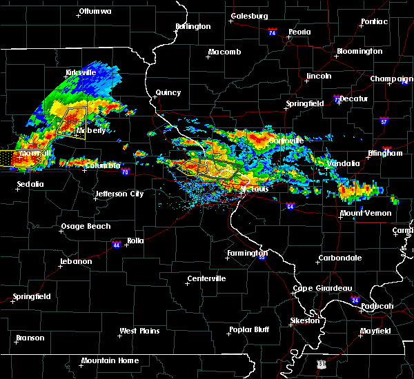 Radar Image for Severe Thunderstorms near Collinsville, IL at 6/25/2015 7:09 PM CDT