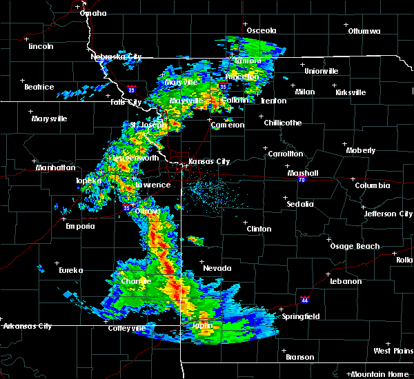 Radar Image for Severe Thunderstorms near Richards, MO at 4/12/2020 11:24 AM CDT