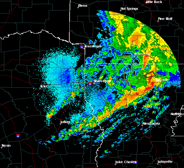 Radar Image for Severe Thunderstorms near Claiborne, LA at 4/12/2020 11:36 AM CDT