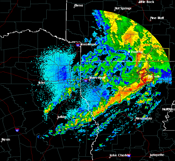 Radar Image for Severe Thunderstorms near Claiborne, LA at 4/12/2020 11:38 AM CDT