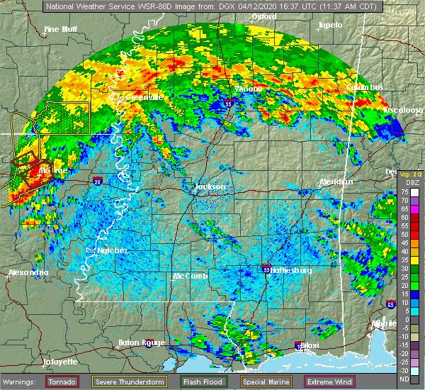 Radar Image for Severe Thunderstorms near Mer Rouge, LA at 4/12/2020 11:41 AM CDT