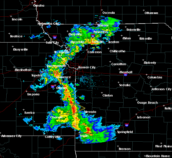 Radar Image for Severe Thunderstorms near Richards, MO at 4/12/2020 11:43 AM CDT