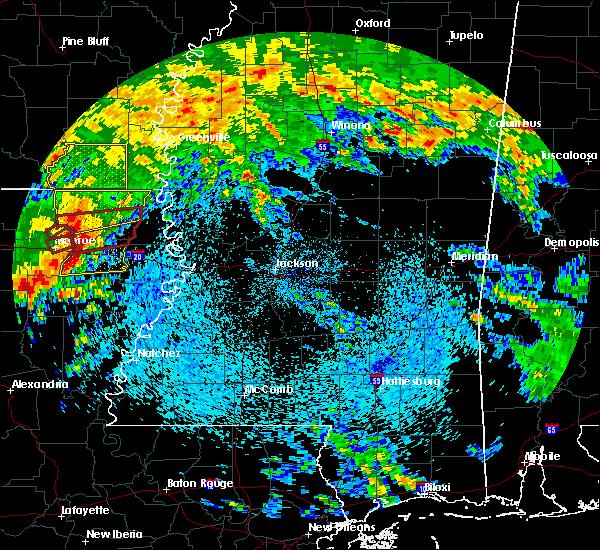 Radar Image for Severe Thunderstorms near Start, LA at 4/12/2020 11:54 AM CDT