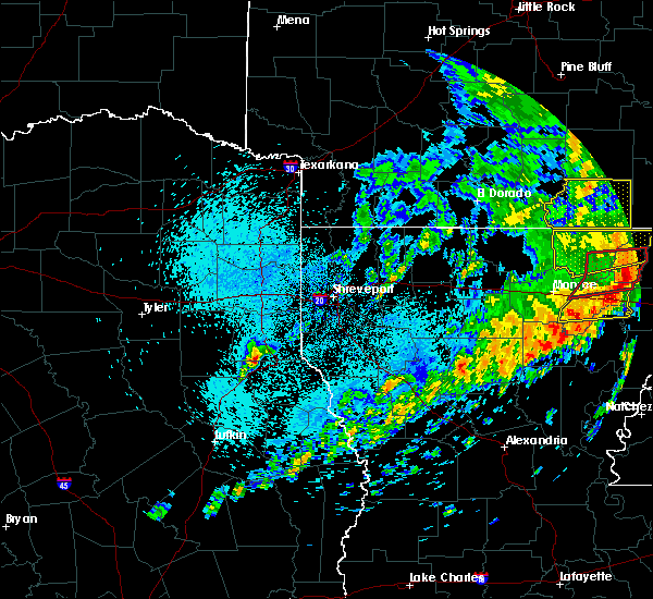 Radar Image for Severe Thunderstorms near Greenwood, LA at 4/12/2020 12:19 PM CDT