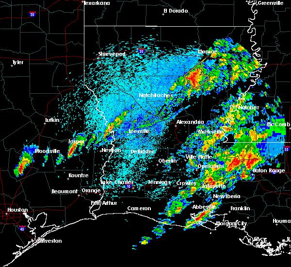 Radar Image for Severe Thunderstorms near Clarks, LA at 4/12/2020 2:09 PM CDT