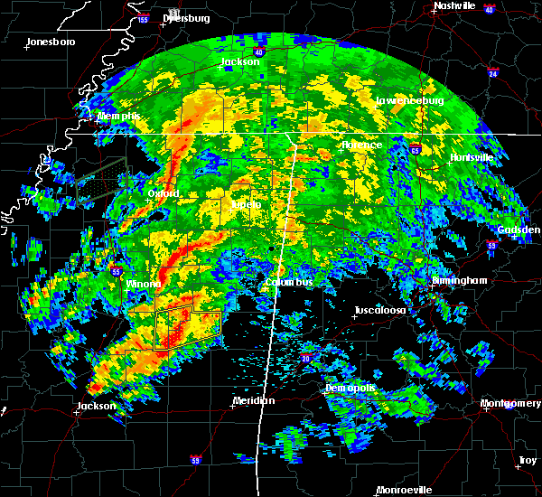 Radar Image for Severe Thunderstorms near Mississippi State, MS at 4/12/2020 2:54 PM CDT