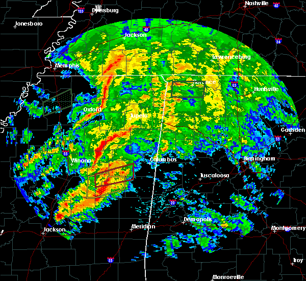Radar Image for Severe Thunderstorms near Noxapater, MS at 4/12/2020 3:01 PM CDT