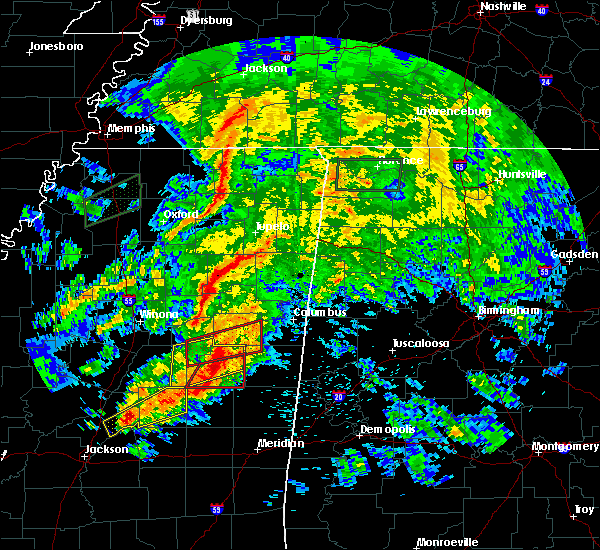 Radar Image for Severe Thunderstorms near Mississippi State, MS at 4/12/2020 3:08 PM CDT