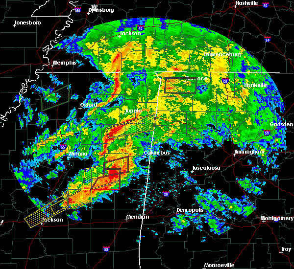 Radar Image for Severe Thunderstorms near Shannon, MS at 4/12/2020 3:10 PM CDT