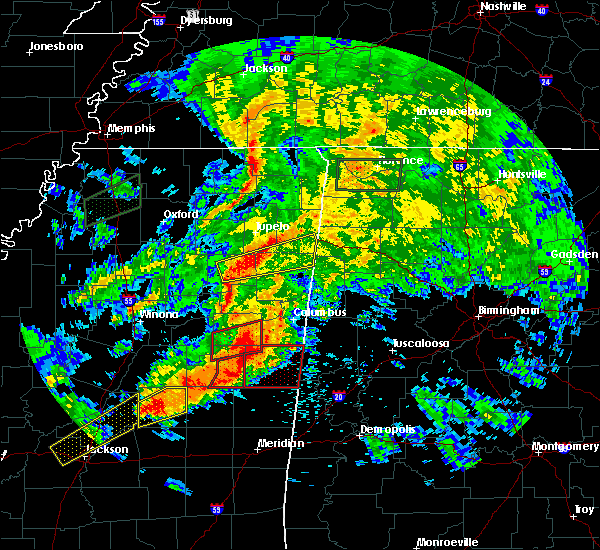 Radar Image for Severe Thunderstorms near Mississippi State, MS at 4/12/2020 3:20 PM CDT