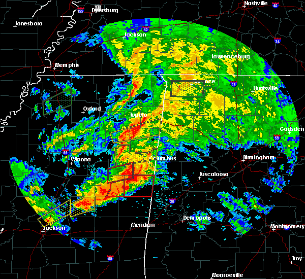 Radar Image for Severe Thunderstorms near Shannon, MS at 4/12/2020 3:25 PM CDT