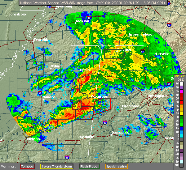 Radar Image for Severe Thunderstorms near Pickensville, AL at 4/12/2020 3:37 PM CDT