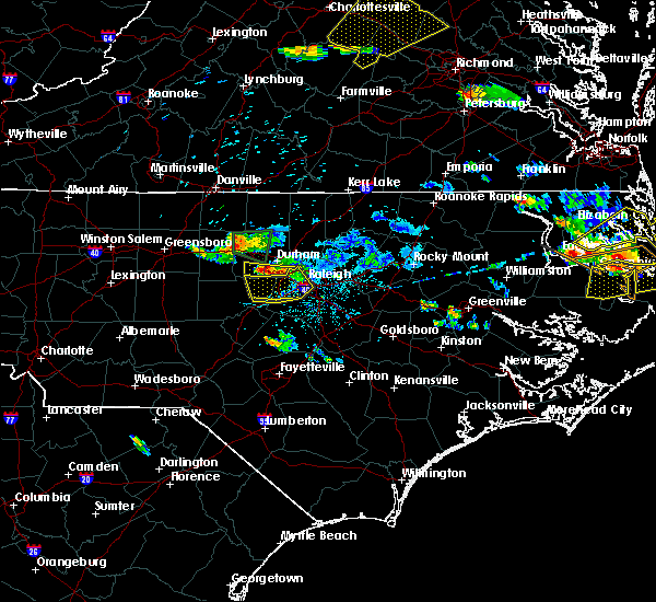 Radar Image for Severe Thunderstorms near Durham, NC at 6/25/2015 8:17 PM EDT