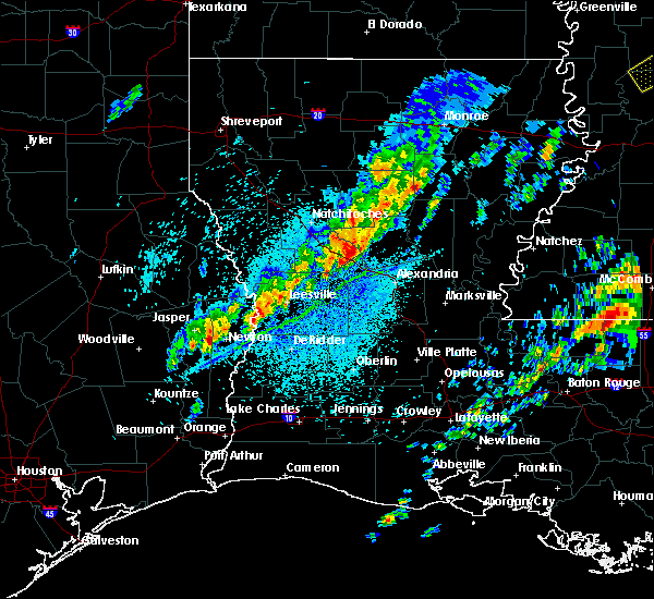 Radar Image for Severe Thunderstorms near Midway, LA at 4/12/2020 3:45 PM CDT