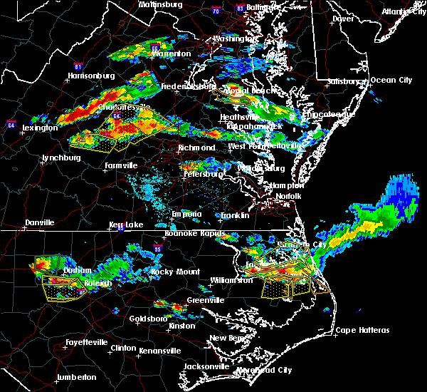 Radar Image for Severe Thunderstorms near Yogaville, VA at 6/25/2015 8:20 PM EDT