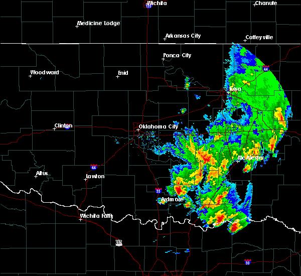 Radar Image for Severe Thunderstorms near Bromide, OK at 4/12/2020 4:11 PM CDT