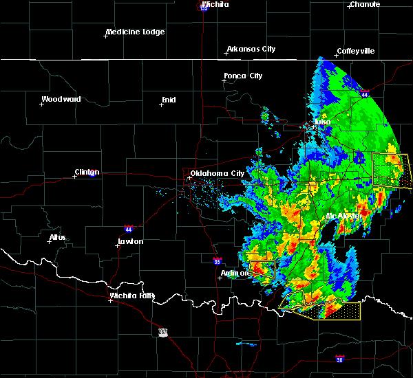 Radar Image for Severe Thunderstorms near Bromide, OK at 4/12/2020 4:25 PM CDT