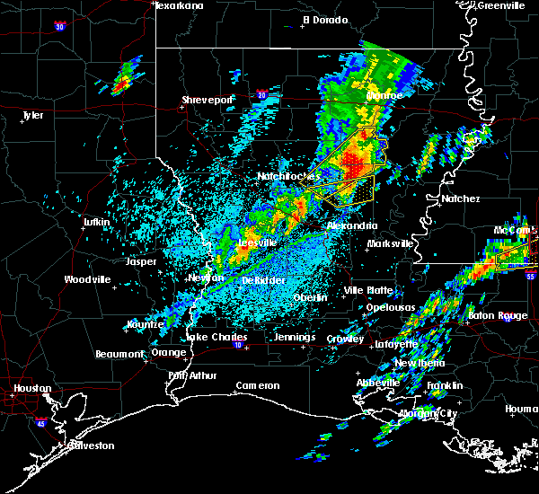 Radar Image for Severe Thunderstorms near Midway, LA at 4/12/2020 4:28 PM CDT