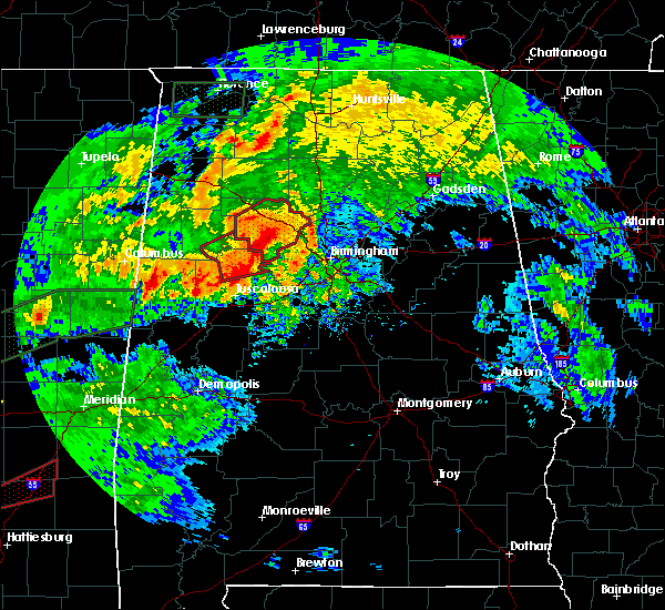 Radar Image for Severe Thunderstorms near Mulga, AL at 4/12/2020 4:53 PM CDT