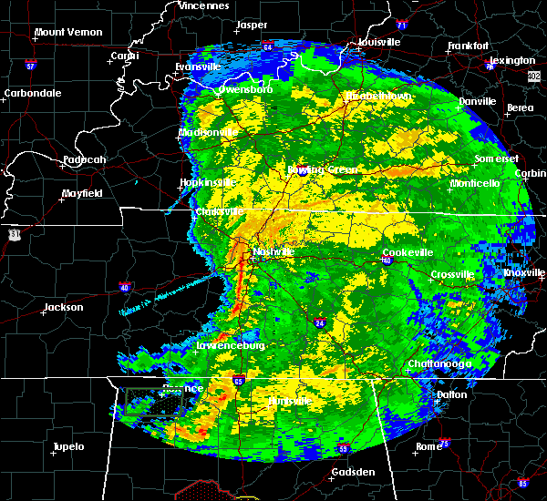 Radar Image for Severe Thunderstorms near Mount Juliet, TN at 4/12/2020 4:56 PM CDT