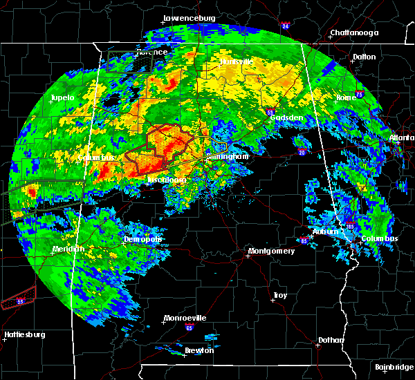 Radar Image for Severe Thunderstorms near Mulga, AL at 4/12/2020 5:04 PM CDT