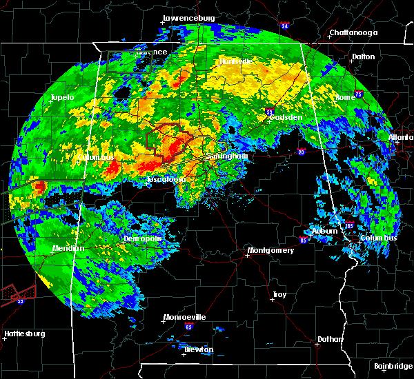 Radar Image for Severe Thunderstorms near Mount Olive, AL at 4/12/2020 5:10 PM CDT