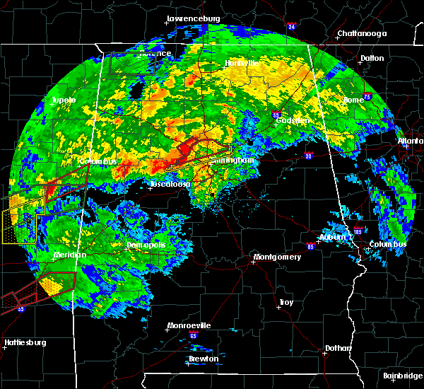 Radar Image for Severe Thunderstorms near Mulga, AL at 4/12/2020 5:20 PM CDT
