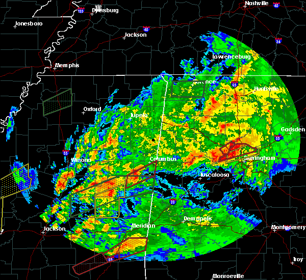 Radar Image for Severe Thunderstorms near Noxapater, MS at 4/12/2020 5:24 PM CDT