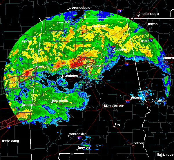 Radar Image for Severe Thunderstorms near Snead, AL at 4/12/2020 5:31 PM CDT