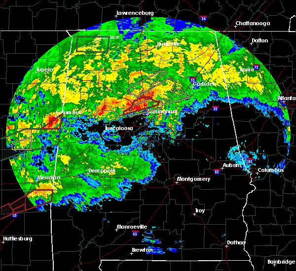 Radar Image for Severe Thunderstorms near Birmingham, AL at 4/12/2020 5:33 PM CDT