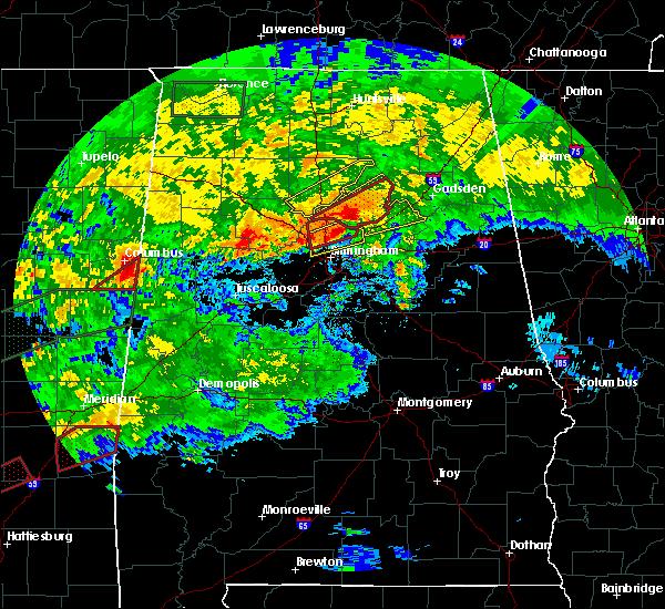 Radar Image for Severe Thunderstorms near Birmingham, AL at 4/12/2020 5:41 PM CDT