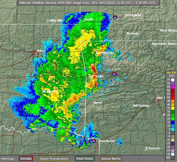 Radar Image for Severe Thunderstorms near Ratcliff, AR at 4/12/2020 5:47 PM CDT