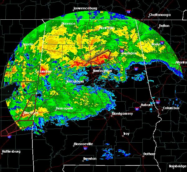 Radar Image for Severe Thunderstorms near Gardendale, AL at 4/12/2020 5:53 PM CDT