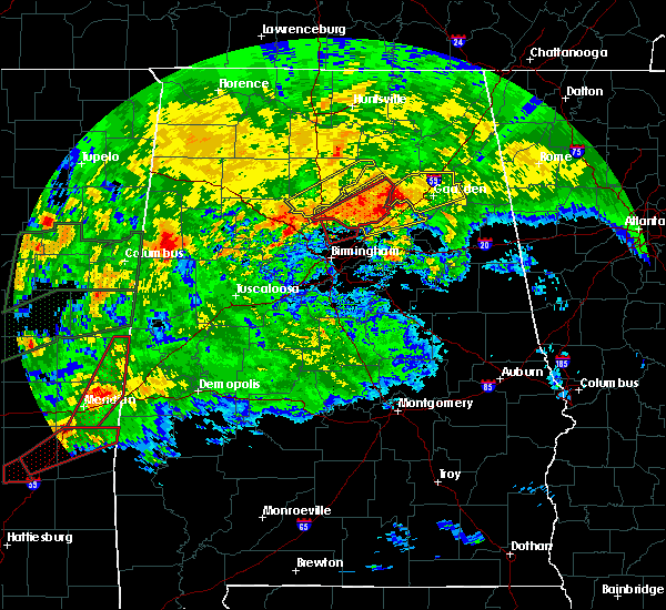 Radar Image for Severe Thunderstorms near Snead, AL at 4/12/2020 5:58 PM CDT