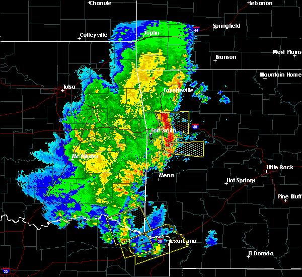 Radar Image for Severe Thunderstorms near Magazine, AR at 4/12/2020 6:03 PM CDT