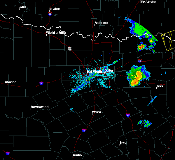 Radar Image for Severe Thunderstorms near Edom, TX at 4/12/2020 6:14 PM CDT