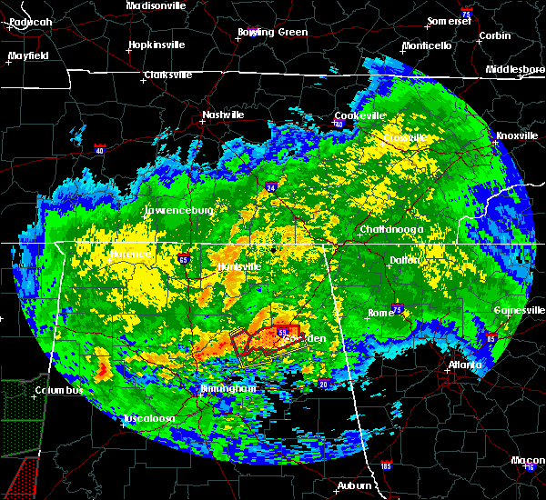 Radar Image for Severe Thunderstorms near Lookout Mountain, AL at 4/12/2020 6:18 PM CDT
