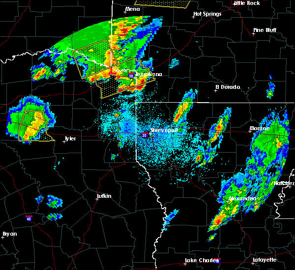 Radar Image for Severe Thunderstorms near Stamps, AR at 4/12/2020 6:22 PM CDT