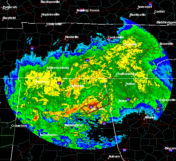 Radar Image for Severe Thunderstorms near Whitesboro, AL at 4/12/2020 6:27 PM CDT