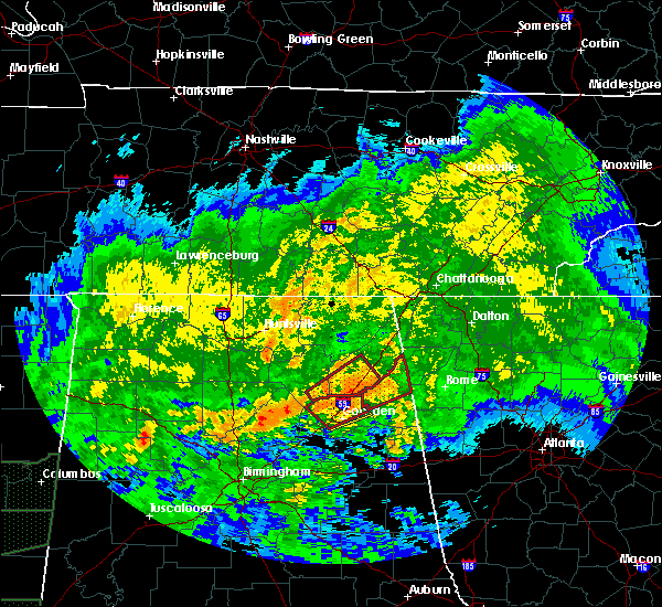 Radar Image for Severe Thunderstorms near Whitesboro, AL at 4/12/2020 6:31 PM CDT