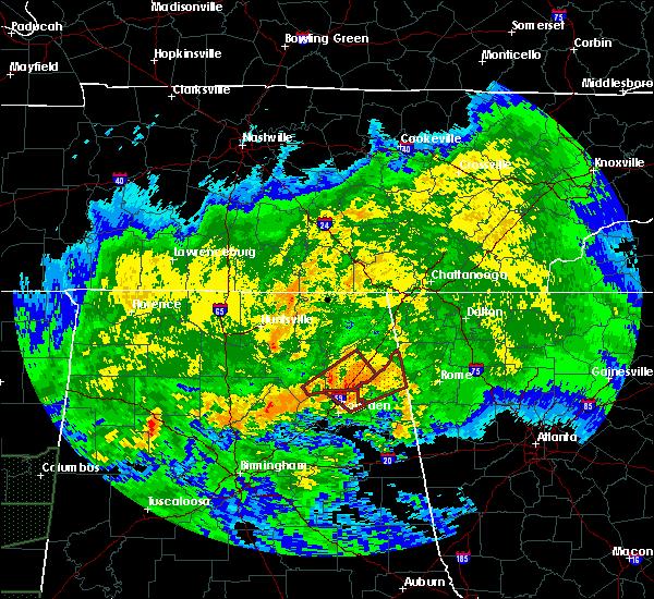Radar Image for Severe Thunderstorms near Cedar Bluff, AL at 4/12/2020 6:36 PM CDT