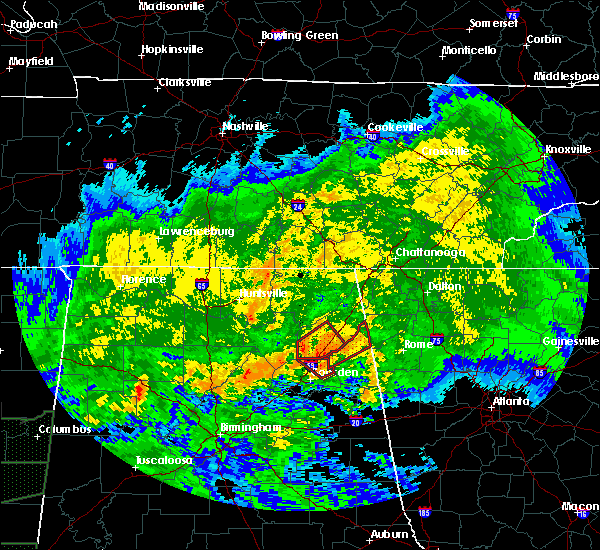 Radar Image for Severe Thunderstorms near Whitesboro, AL at 4/12/2020 6:38 PM CDT