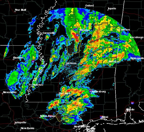 Radar Image for Severe Thunderstorms near Sylvarena, MS at 4/12/2020 6:39 PM CDT