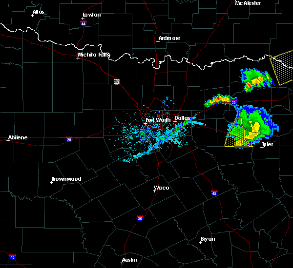 Radar Image for Severe Thunderstorms near Edom, TX at 4/12/2020 6:40 PM CDT
