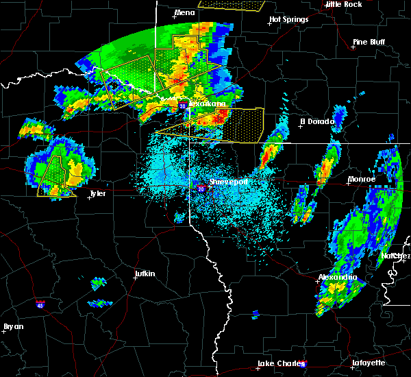 Radar Image for Severe Thunderstorms near Stamps, AR at 4/12/2020 6:44 PM CDT