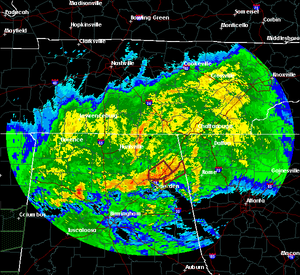 Radar Image for Severe Thunderstorms near Broomtown, AL at 4/12/2020 6:45 PM CDT