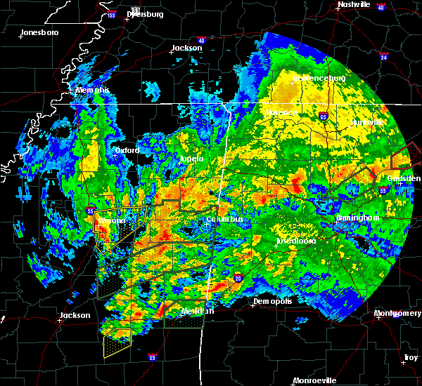 Radar Image for Severe Thunderstorms near Winona, MS at 4/12/2020 6:51 PM CDT