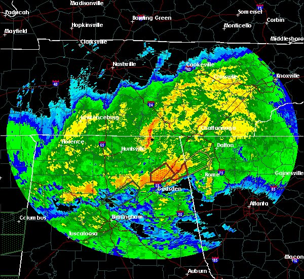 Radar Image for Severe Thunderstorms near Menlo, GA at 4/12/2020 7:57 PM EDT