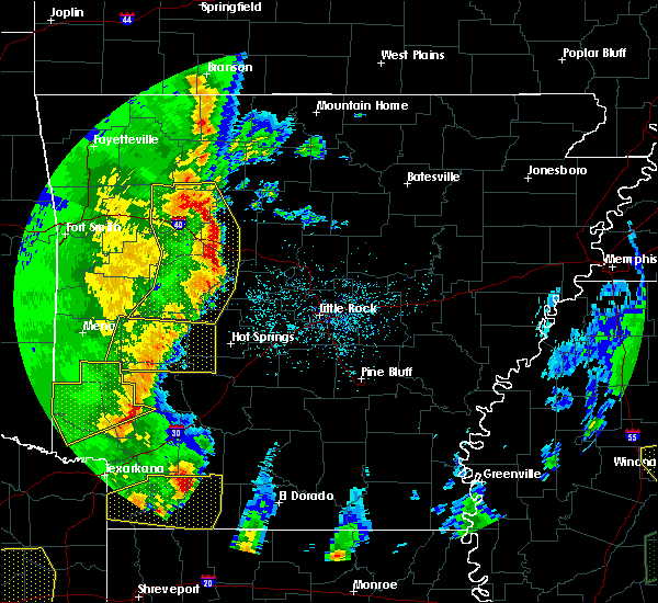 Radar Image for Severe Thunderstorms near Hector, AR at 4/12/2020 6:59 PM CDT